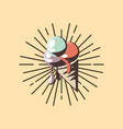 ice cream cone flavors grunge retro style vector image