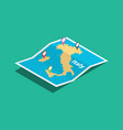 italy explore maps with isometric style and pin vector image