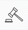 judge gavel icon isolated on transparent vector image vector image