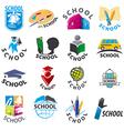 large set of logos School vector image vector image