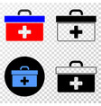 medical case eps icon with contour version vector image vector image