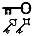 medieval key symbols vector image vector image