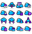 Network communication icon set vector image