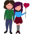 nice lovely couple in love holding hands vector image