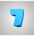 Number seven comic style font EPS10 vector image