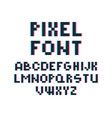 pixel font retro video game 80s vintage computer vector image