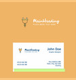 plough logo design with business card template vector image