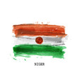 realistic watercolor painting flag niger vector image vector image