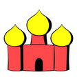 saint basils cathedral moscow russia icon cartoon vector image vector image