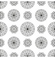 seamless pattern with circles and spirals vector image vector image