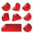set of stickers shapes vector image vector image