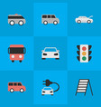 set simple traffic icons vector image vector image