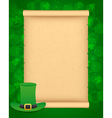 St Patricks day background with parchment vector image vector image