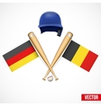 Symbols of Baseball team Germany and Belgium vector image