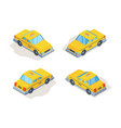 taxi cars yellow service vehicles passenger vector image vector image