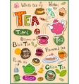 Tea design elements vector image vector image