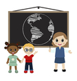 Teacher and kids vector image