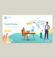 travel agency promo action a discount webpage vector image