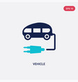 two color vehicle icon from future technology vector image vector image