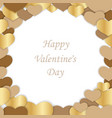valentines day seamless frame vector image