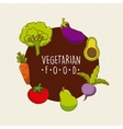 vegan food design vector image vector image