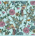 victorian garden floral seamless pattern vector image vector image