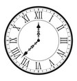 vintage clock with roman numeral vector image