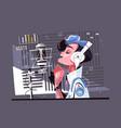 voice recording studio vector image
