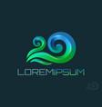 wave logo template icon vector image