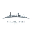Yekaterinburg Russia city skyline silhouette vector image vector image