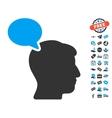 Person Opinion Icon With Free Bonus vector image