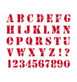 Rubber stamp style alphabet vector image