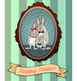 Colorful Easter Greeting Card vector image