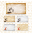 Hand drawn greeting or gift card designs vector image