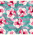 rtopical pattern on pink vector image
