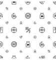 24 icons pattern seamless white background vector image vector image