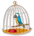 a parrot bird in cage sticker