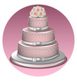 a stylish wedding cake vector image vector image