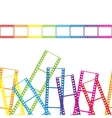 Abstract background with a film strip vector image