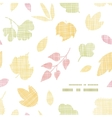 Abstract textile texture fall leaves frame corner vector image