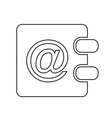 address book icon design vector image