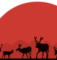 Alaska deer against the sun vector image vector image