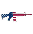 american flag gun semi-automatic rifle vector image vector image