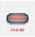 american national flag colors in patriotic banner vector image vector image