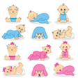 baby boys and baby girls vector image