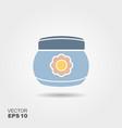 baby cream jar flat icon with shadows vector image