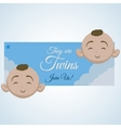 Baby shower design invitation design isolated vector image vector image