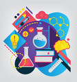 back to school concept chemistry vector image vector image