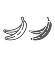 banana line and glyph icon fruits and vegetables vector image vector image