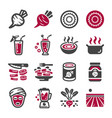 beetroot icon set vector image vector image
